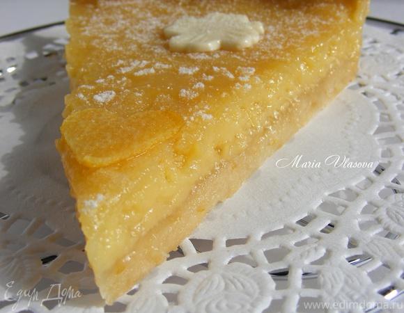 Лимонный пирог со сгущенкой