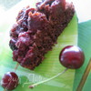Перевернутый шоколадный пирог с двумя слоями вишни