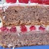 Миндальный торт с белым шоколадом и малиной