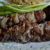 Свиной кебаб с бальзамическим уксусом