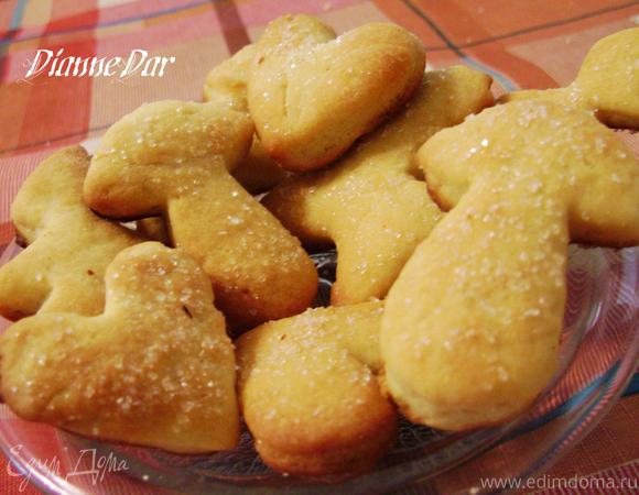 """Сахарное печенье из """"необычного"""" теста"""