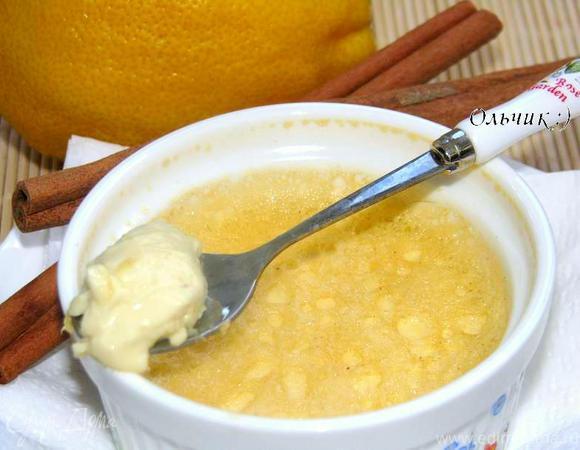 Крем с лимоном и корицей
