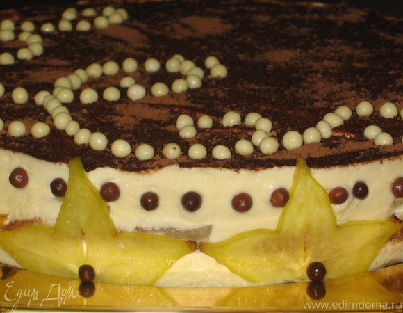 Дынный торт-тирамису