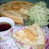 Яблочно-кремовый пирог