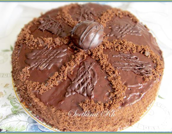"""Шоколадный """"шифоновый"""" торт"""