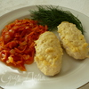 Куриные котлетки- рулетики, запеченные в пикантном соусе