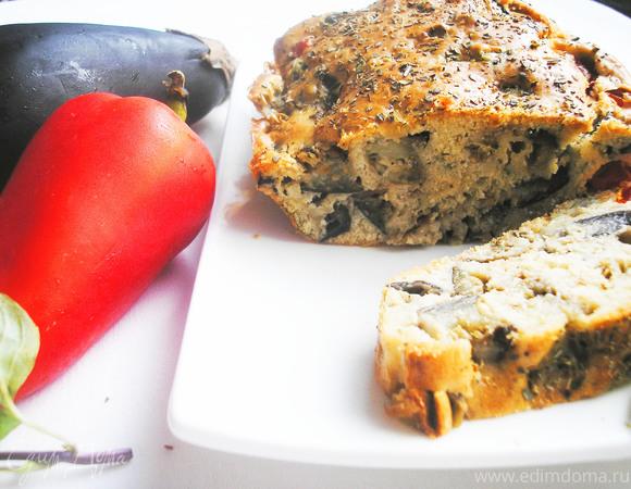 Кекс с баклажанами и помидорами черри