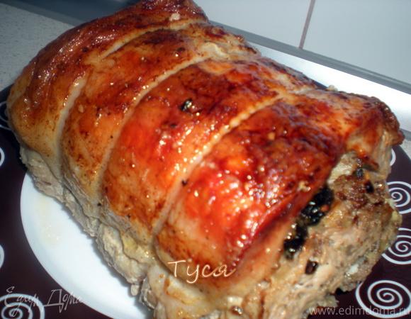 Фаршированная свиная корейка