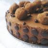 Шоколадный торт-мусс с кофейно-карамельными трюфелями