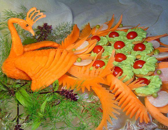 Павлиний хвост салат с