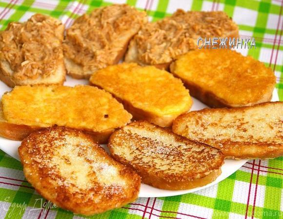 Назад в СССР: Гренки сахарные, сырные и запеченные с яблоками
