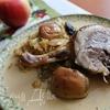 Праздничная утка с яблоками и айвой