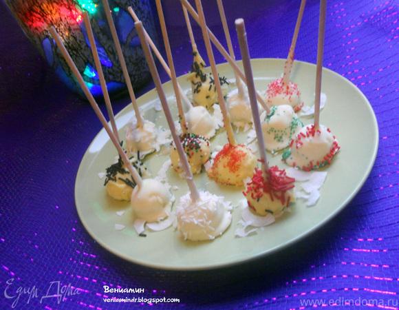 Чизкейк-конфеты (Cheesecake Pops)