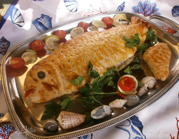 Форель, запеченная в тесте + МК по разделке рыбы на филе