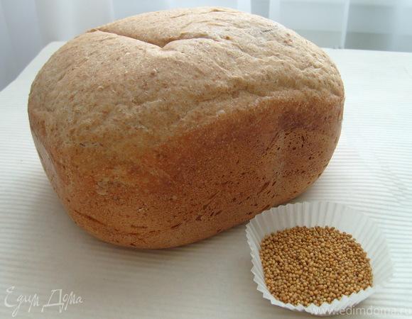 Хлеб на темном пиве с горчицей