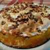 """Лимонное пирожное """"Софи Лорен"""" с грецкими орехами, изюмом и безе"""