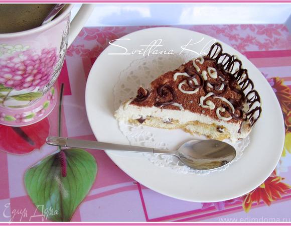 Лимонно-шоколадный десерт без выпечки