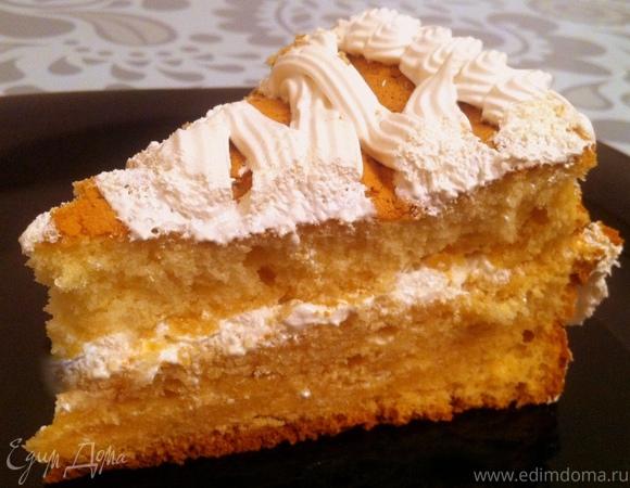 """Бисквитный торт """"Медовый Хлопок"""""""