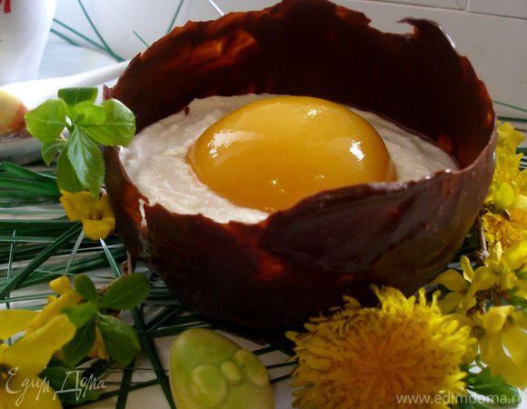 """Пасхальные """"Шоколадные яйца"""" с творожным муссом"""