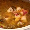 Суп с куриной грудкой и беконом
