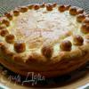 Пирог с курицей и шампиньонами (без яиц)