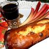 "Кекс в карамели на подушке из ревеня (""Rabarberu kuka"") для Танюши (Снежинка)"