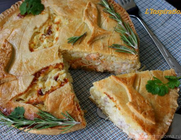 Пирог с рыбными консервами рецепт пошагово в мультиварке