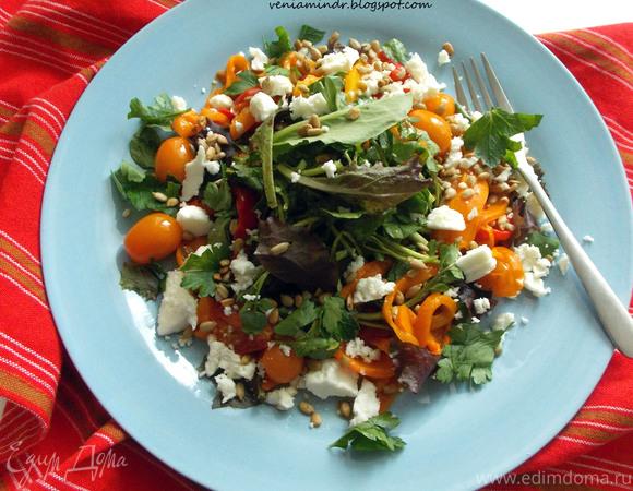 рецепт салата из капусты с красным перцем