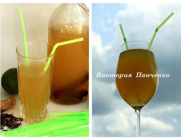 """Имбирно-лаймовый лимонад на основе зеленого чая (""""Прохладительные напитки"""")"""