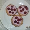 Тарталетки с творожной начинкой и малиной