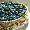 """Нежнейший пирог """"Голубика со сливками"""" для Софьи79"""