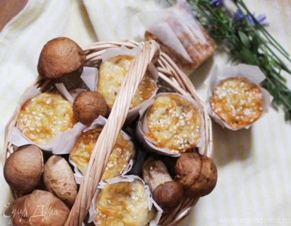 Закусочные кексики с картофелем и грибами