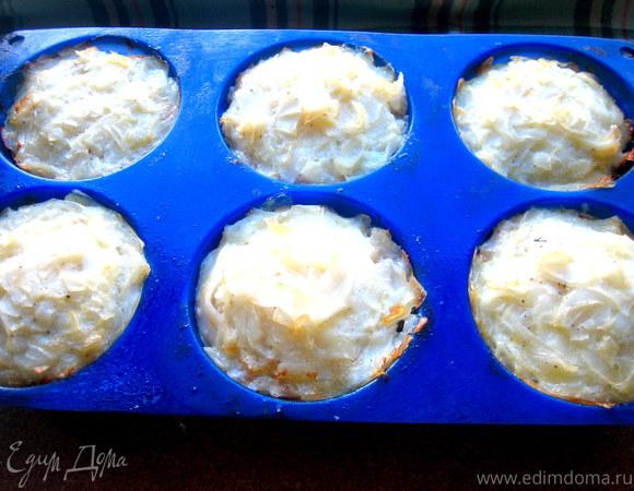 Мясные корзиночки с рисовой лапшой