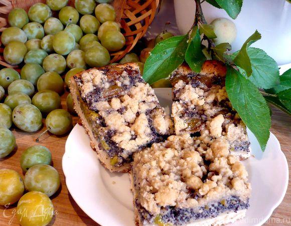 Пирог с маком и алычой «Мирабэлла, или откровение»