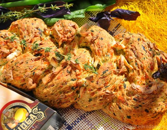 Пикантная плетенка с сырами Джюгас