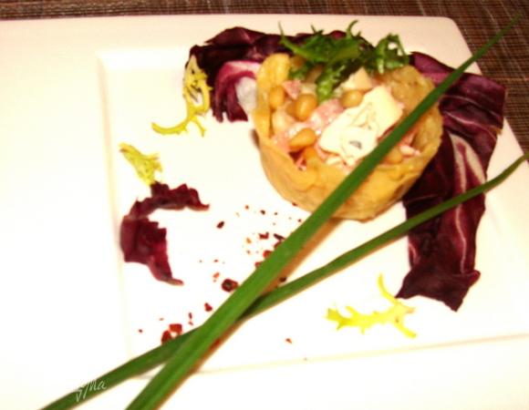 Корзиночки на закуску из сыра Джюгас