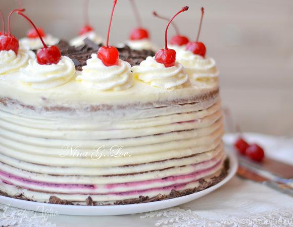 """Торт """"Черный лес"""" (Feketeerdő torta), обновленный рецепт"""