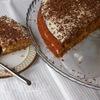Морковный пирог с грецкими орехами и изюмом