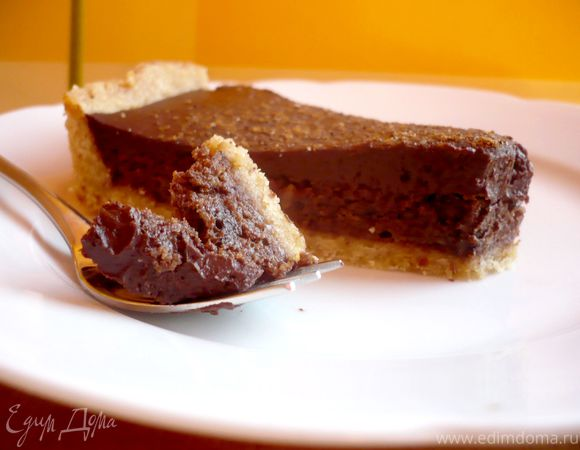 Шоколадно-сливочный тарт «Только мысли все о нем и о нем»