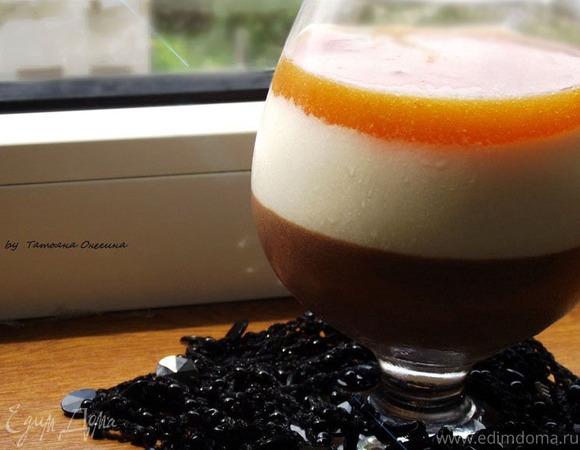 Шоколадный мусс с нежным сливочным кремом и абрикосовым желе