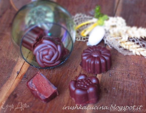 Шоколадные конфеты с кофейной начинкой