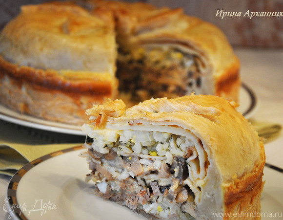 Курник — блинный пирог по-старорусски