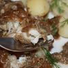 Рыба под баклажановой шубкой