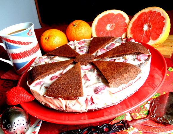 """Летний торт """"Фрукты в желе"""""""