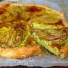 Овощной киш с сыром и цветками цукини