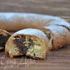Карамельный кекс с шоколадом и орехами