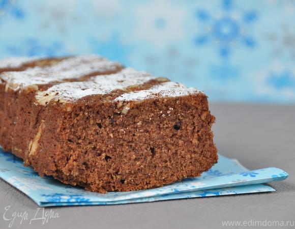 Воздушный шоколадный кекс (на сухариках)