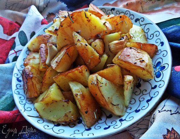 Картофель с чесноком от Джейми Оливера