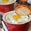 Горбуша горячего копчения в соусе с яйцом-кокот