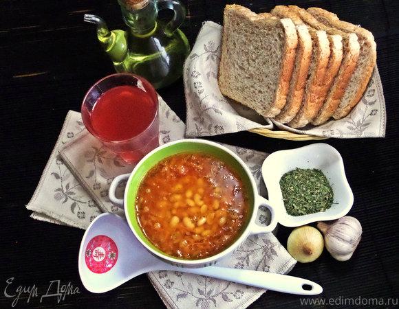 Фасолевый постный суп